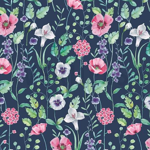 Blumenwiese, dunkelblau