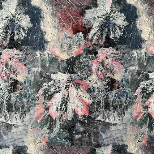Herbstblätter, grau