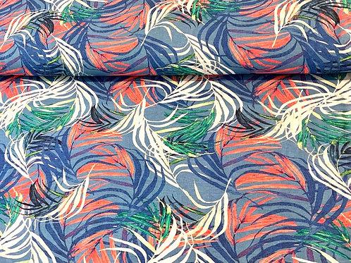 Palmenwedel, blau