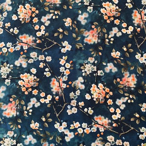 Blütenzweige, blau