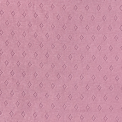 Jacquard Jersey mit Lochmuster, helles pink