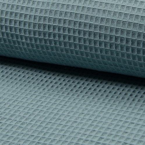Waffelpique, blaugrün