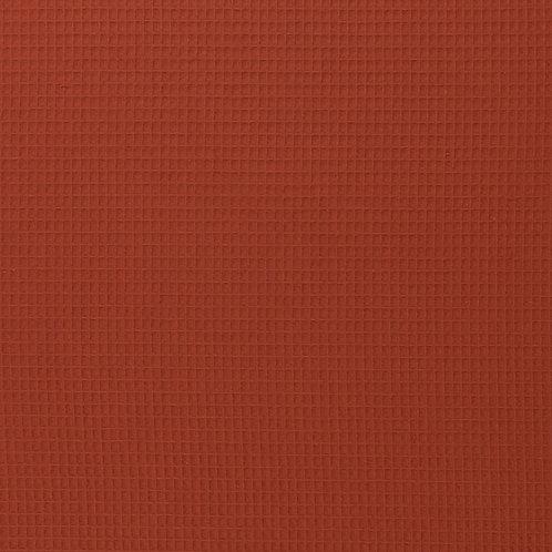 Waffelpique terracotta