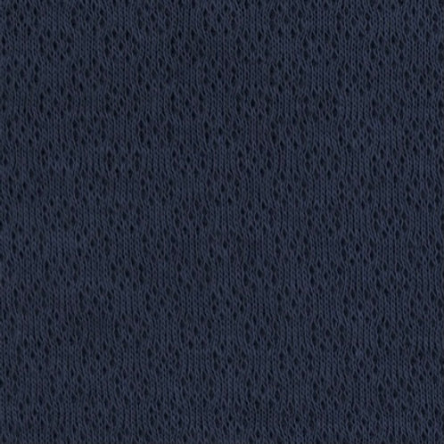 Jacquard-Jersey, dunkelblau