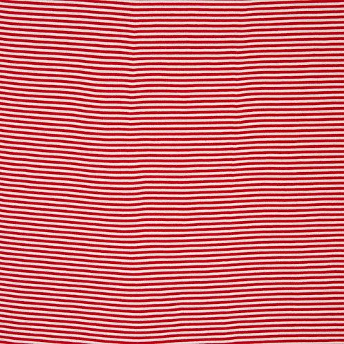 Ringelbündchen, rot-weiß