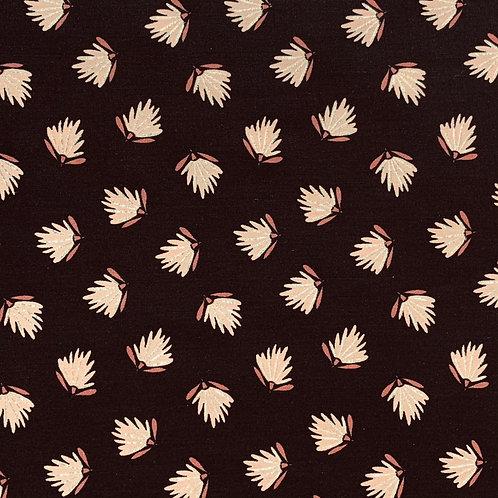 Blätter mit Goldglitzer, schwarz