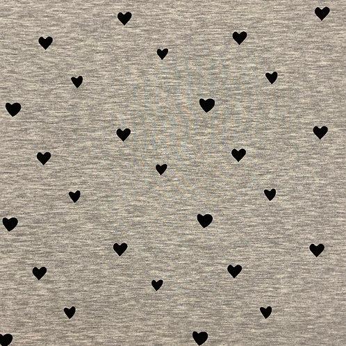 Kleine Herzen, grau