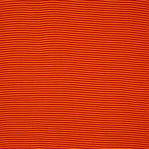 Ringelbündchen, rot-orange