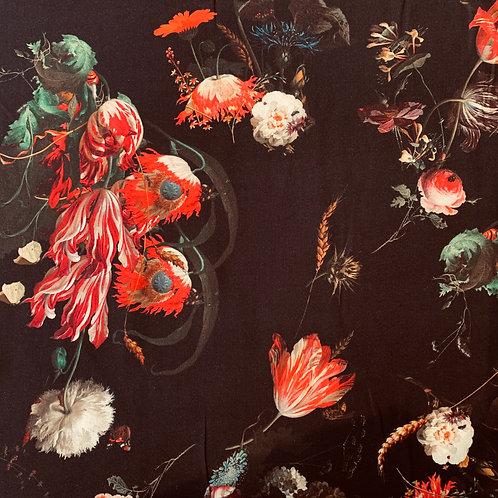 große Blumen, schwarz