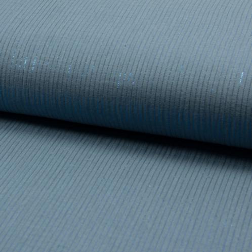 Jeansblau mit Lurexfaden