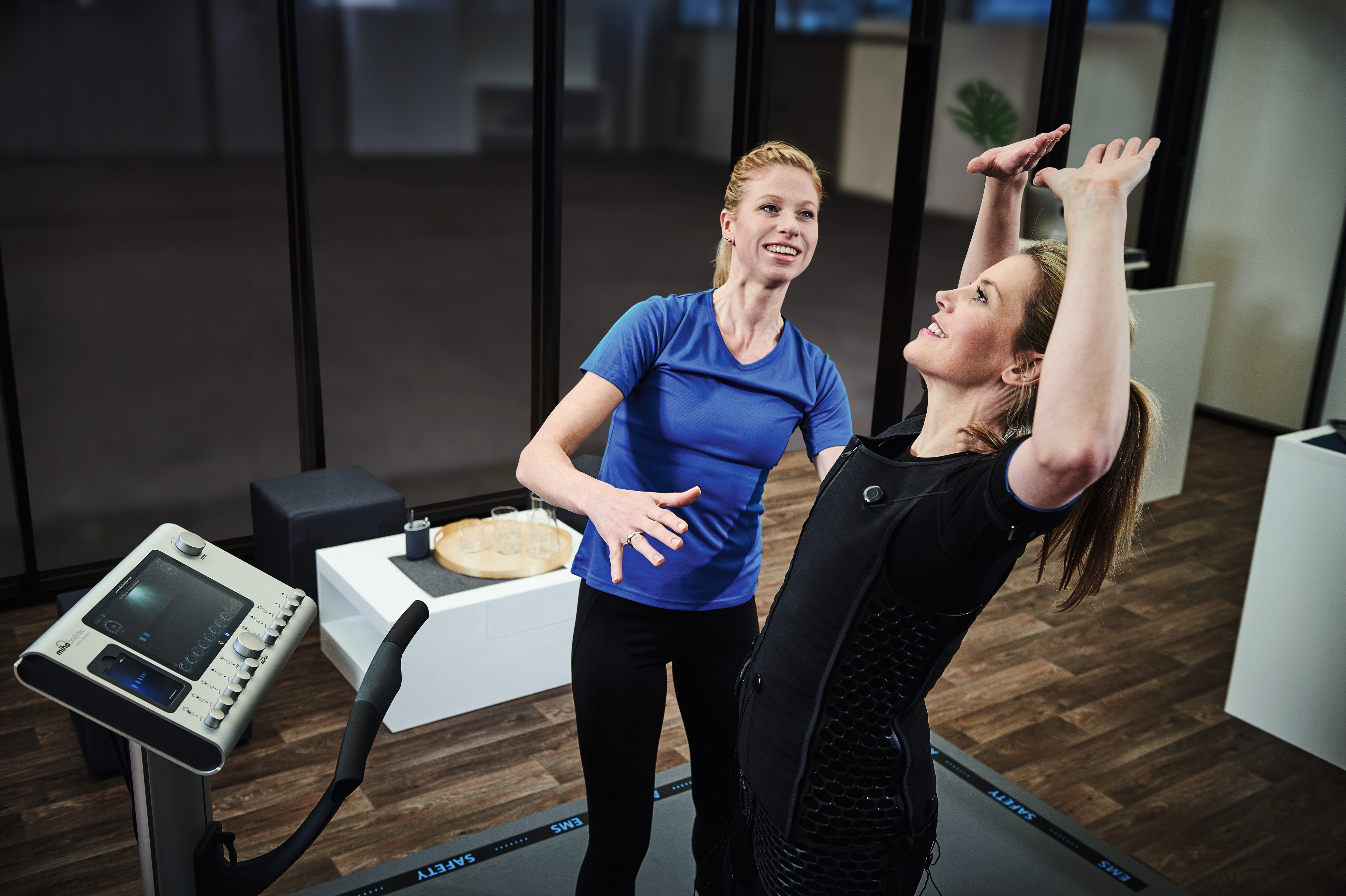 EMS trénink na přístroji Bodytec