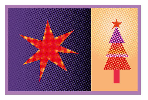 Christmas cards set (of 6,12 or 24)