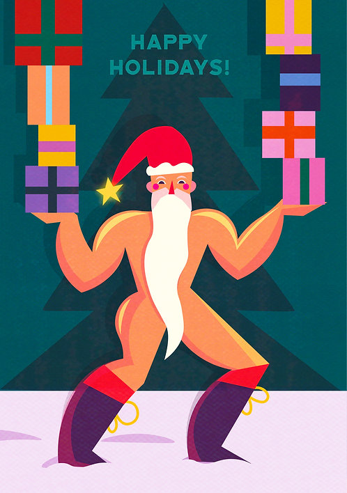 Sexy Santa card set