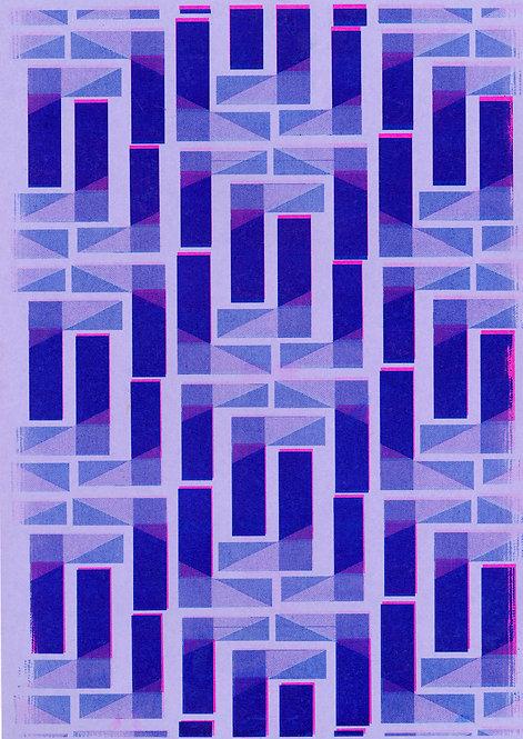 Gekleurd patroon risoprint