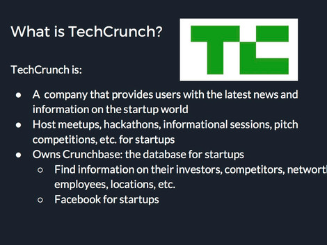 Current Event: TechCrunch Pitch Competition