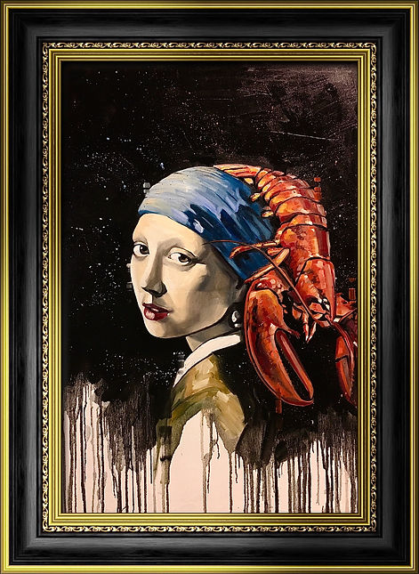 Girl with a lobster.JPG