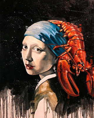 Girl with a Lobster on her Head