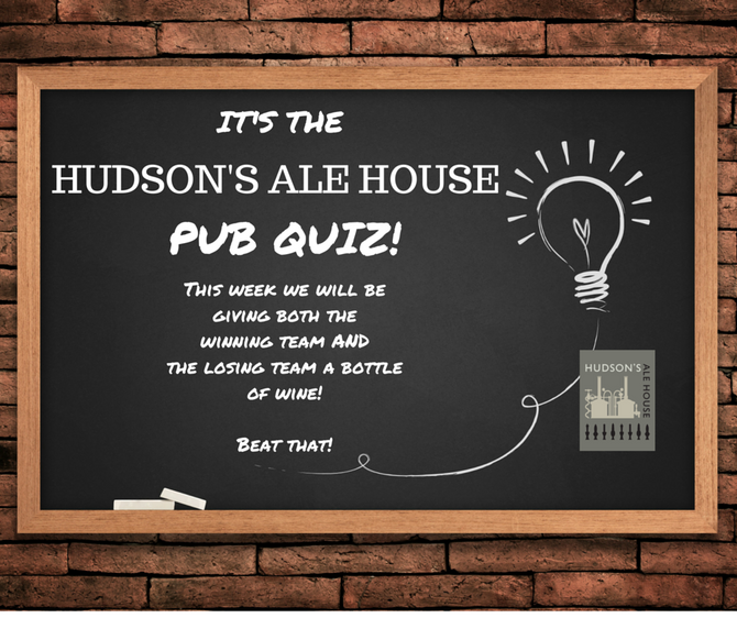 It's The Ale House Pub Quiz!