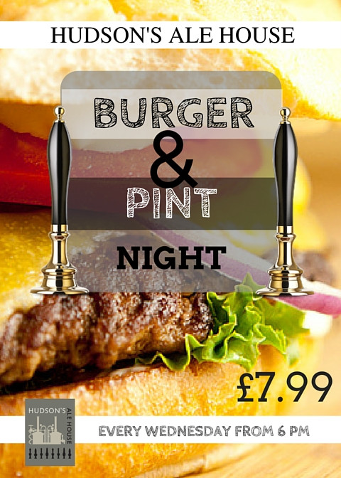 BURGER AND PINT NIGHT!
