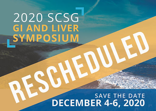 SCSG 2020 GI Symposium RESCHEDULED Postc