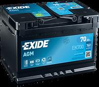 акумулятор EXIDE 70 AGM
