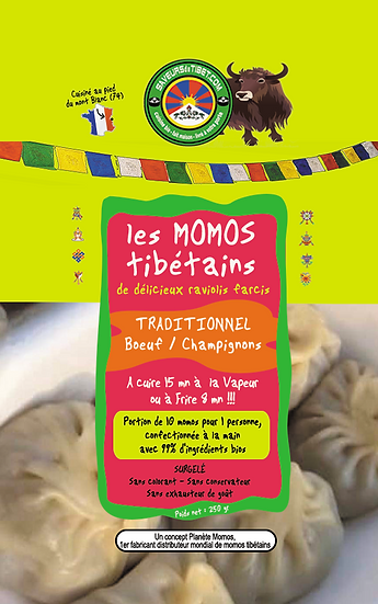 100 Momos Farce Traditionnelle (boeuf/champignon)