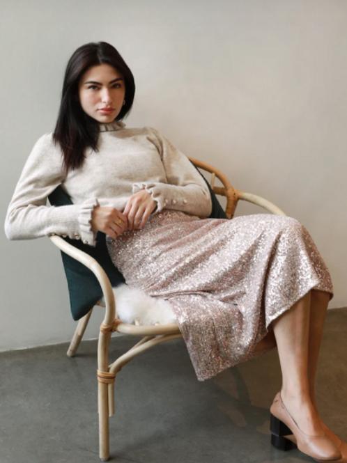 Greylin Edna Midi Sequin Skirt