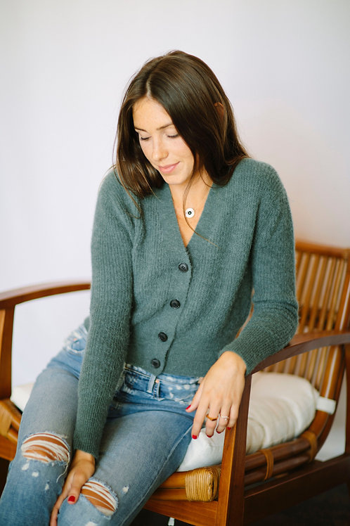 Just Female Cropped Cardigan