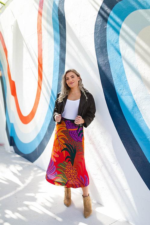 Farm Rio Graphic Jungle Skirt