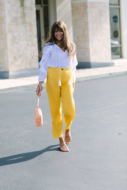Raquel Allegra Yellow Pant