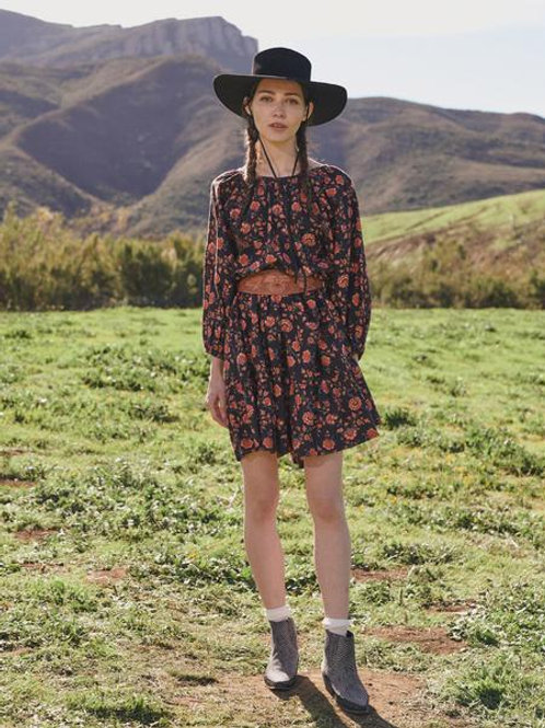 The Great Antique Floral Buff Dress