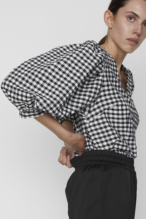 Just Female Lagos Pouf Sleeve Blouse