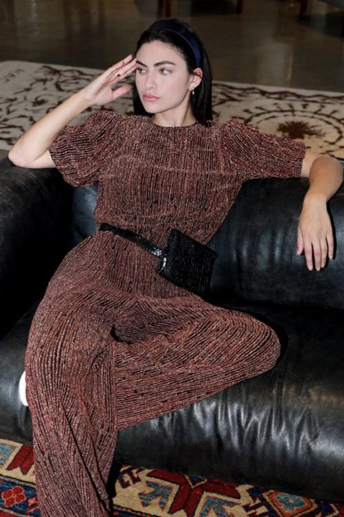 Greylin Denver Lurex Knit Wide Leg Pant