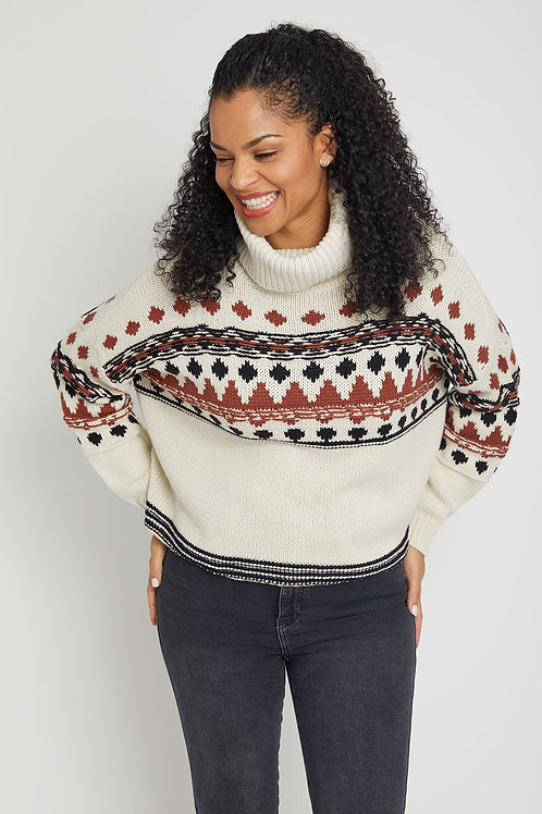 RD Style Long Sleeve Turtleneck Sweater