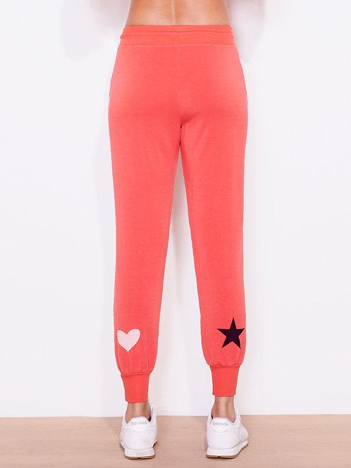 Sundry Star and Hearts Jogger Pants