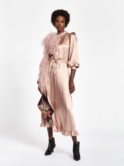 Essentiel Zanel Long Sleeve Silk Dress