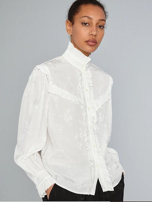 Raquel Jacquard Luna Ruffle Shirt