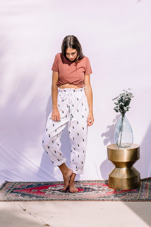 Farm Rio Embroidered Toucan Pants