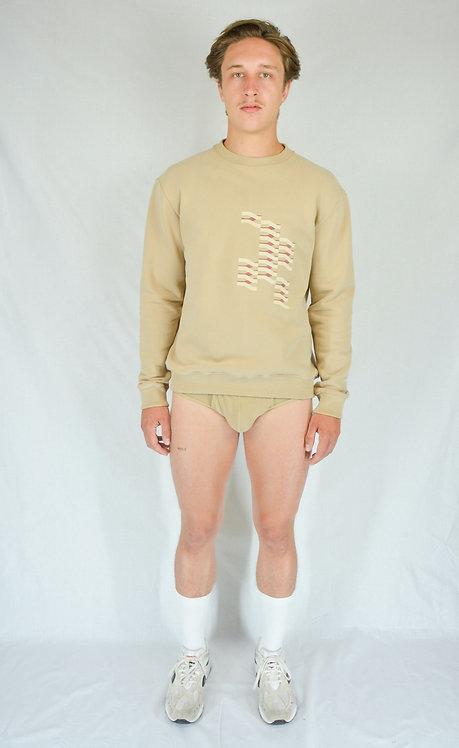 Sweatshirt brodé sand