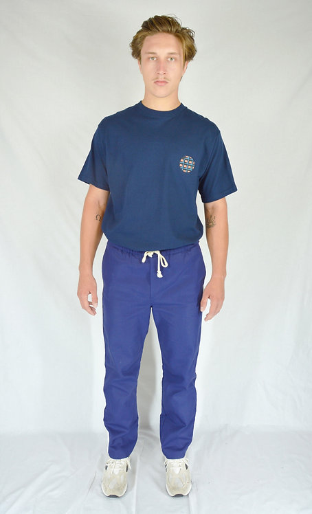 T-shirt patch bleu