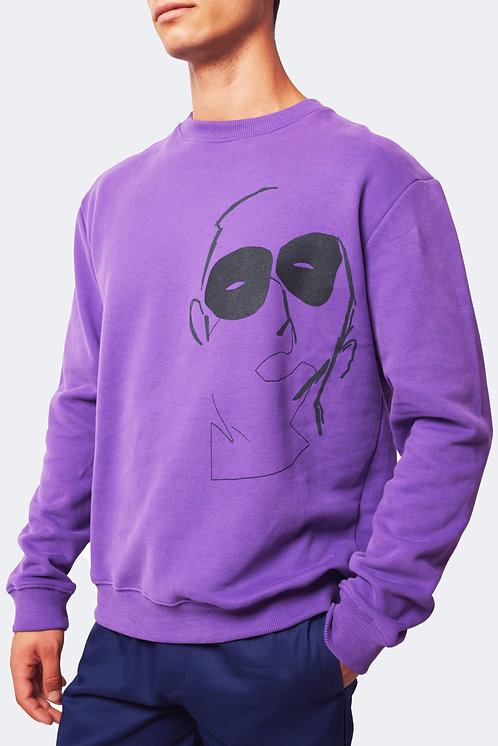 Sweatshirt meuster purple