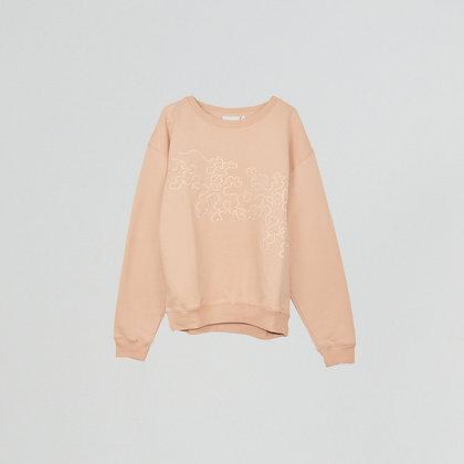 "Sweatshirt  oversize brodé""m"" sierra"