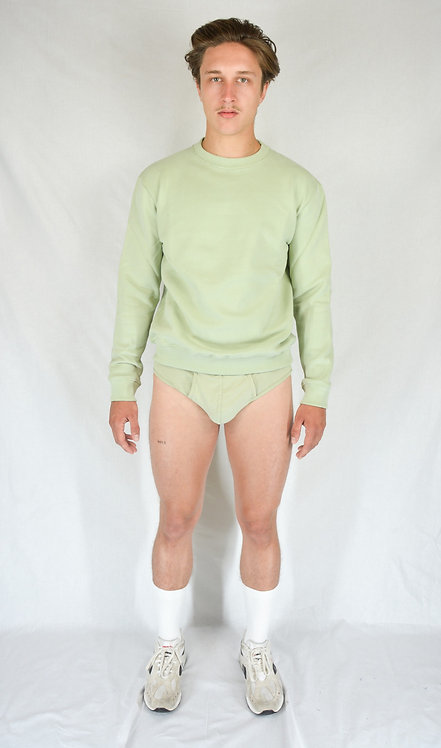"Sweatshirt ""m"" green almond"