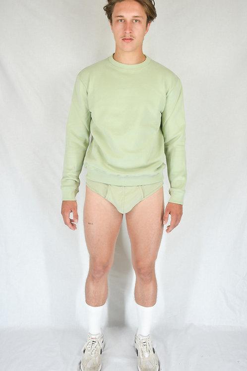 "Sweatshirt ""m"" green almond"
