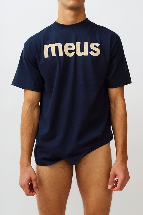 T-shirt signature meus navy