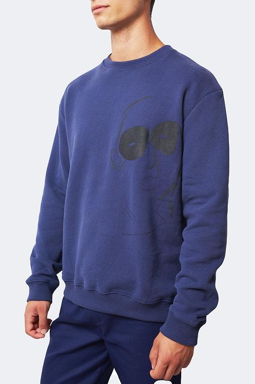 Sweatshirt meuster old blue