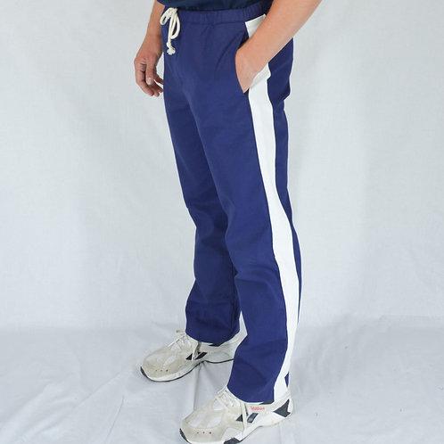 Stripe cotton twill pants