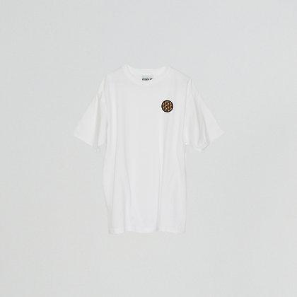 T-shirt patch blanc
