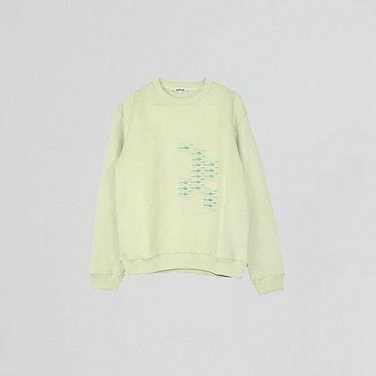 Green embroidered sweatshirt