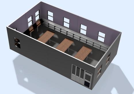 Classroom Concept Render